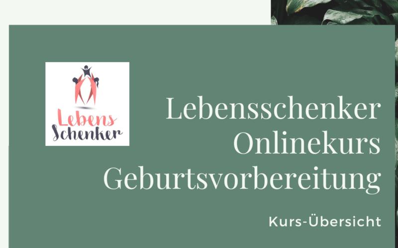 """Titelbild des Kurses """"Lebensschenker Onlinekurs Geburtsvorbereitung"""" zum Kursüberblick"""