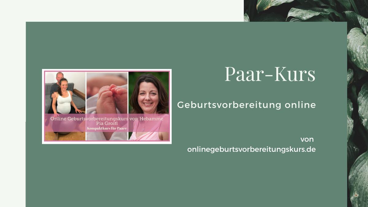 Paarkurs Geburtsvorbereitung mit Pia Groitl